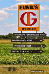 Funk G Sign onto Frontage Rd